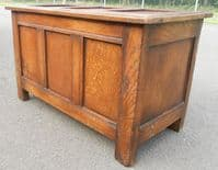SOLD - Small Oak Panelled Blanket Chest